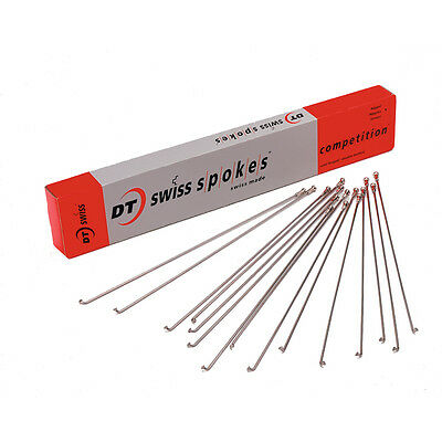 DT Swiss Competition Silver Spokes  2 / 1.8mm Sizes 267 To 305mm Various Bikes • 0.99£