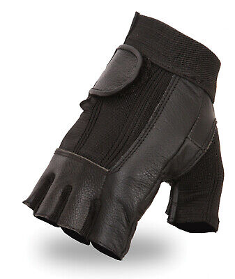 Fingerless Sports Cycling Bicycle Gloves Amara Half Finger Padded Palm Leather • 3.99£