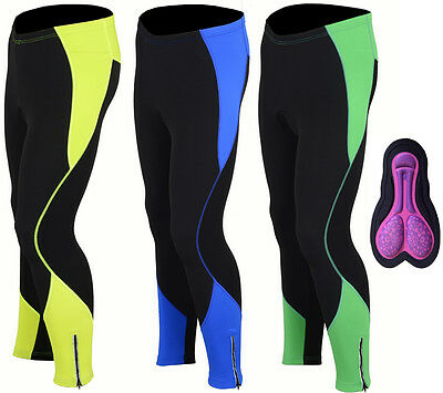 Womens Winter Cool Max Padded Cycling Tights Trousers Running Thermal Leggings • 12.99£