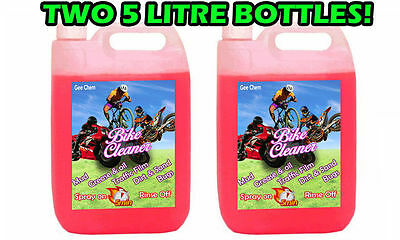 Gee Bike Cleaner Bicycle Motorcycle Motocross 2X5L 10 Litre Gets Muc Off Fast! • 19.99£