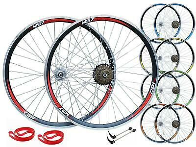 MadSpeed7 700c Road Racing Bike Front Rear 6/7/8 Speed Wheel Set Shimano • 77.99£