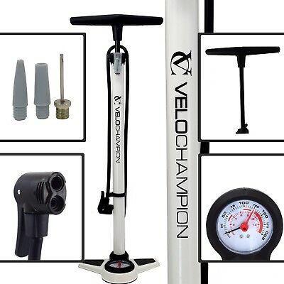 Velochampion Pro High Pressure Cycling Floor/track Pump With Pressure Gauge • 24.95£