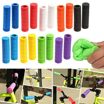 Colourful Silicone Bike Bicycle Handlebar Grips MTB XC BMX • 6.99£