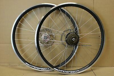 26  27.5 (650b) 29  MTB Bike Front Rear Disc/Rim Brake Wheel Set 6/7/8/9 Speed • 56.99£