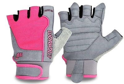 New Women Cycling Half Finger Gloves Fingerless Mitts Ladies Padded Palm Gloves • 6.49£
