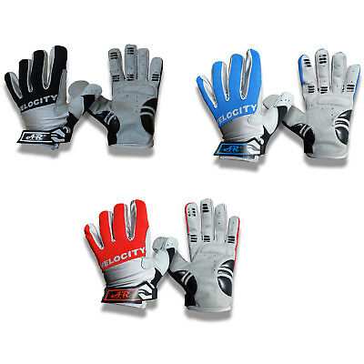 Velocity CYCLING GLOVES Men Ladies Girl Boy Bicycle Bike Cycle Full Finger Mitts • 5.99£