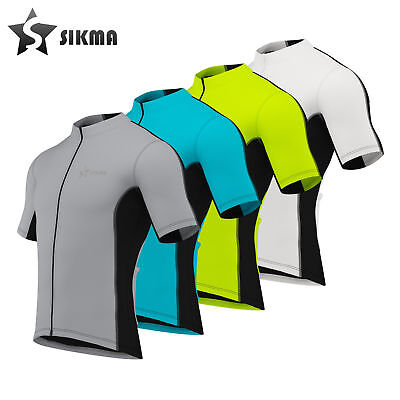 Men's Cycling Jersey Short Sleeves Top Breathable Bicycle Bike Jersey Sikma • 11.99£