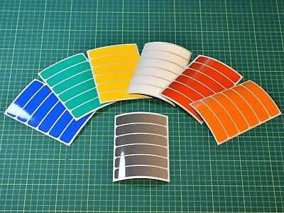 Reflective Strips Stickers For Motorbike Cycle Safety - Conforms To French Law • 2.89£