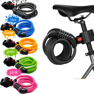 New Combination Bike Lock Strong Heavy Duty Cycle Security Bicycle Locks 1.2M • 6.99£