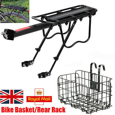 WIRE MESH FRONT/REAR BIKE SHOPPING STORAGE BASKET/BICYCLE Pannier Rack Carrier • 13.49£