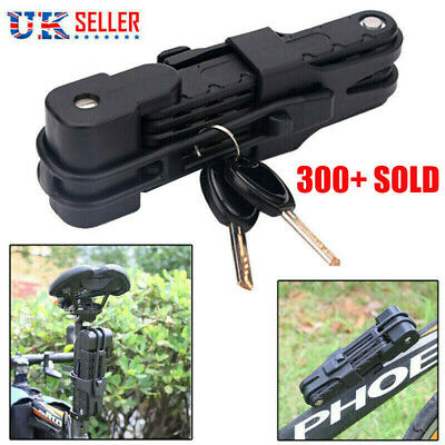 Folding Bicycle Cable Lock Steel Bike Security Anti-Theft Combination MTB Road • 12.99£