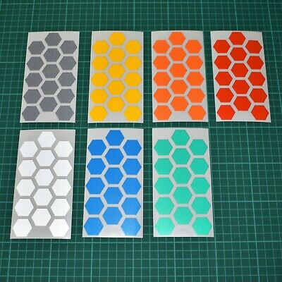 Reflective Stickers Hexagons - Motorbike Cycle Safety - Hi Vis • 2.89£