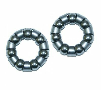 Pair Front Bike/ Cycle Wheel Bearings POPULAR SIZED 3/16  X 7  Caged   • 3.99£