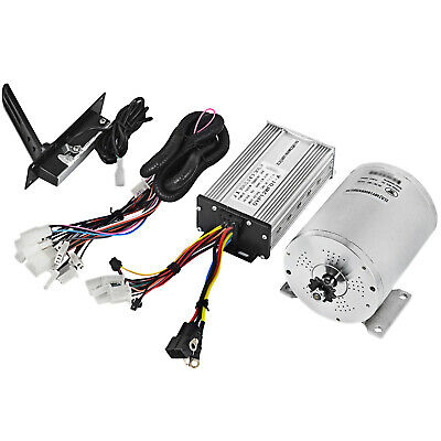 48V 1800W Brushless Motor Controller Throttle Wire DIY Go-Kart 4500RPM Bicycle • 115.59£