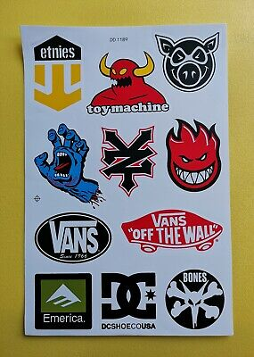 SKATEBOARD STICKERS (11)  MOTOCROSS QUAD BIKE BMX ATV MOTORSPORT (Sheet 002) • 3.69£