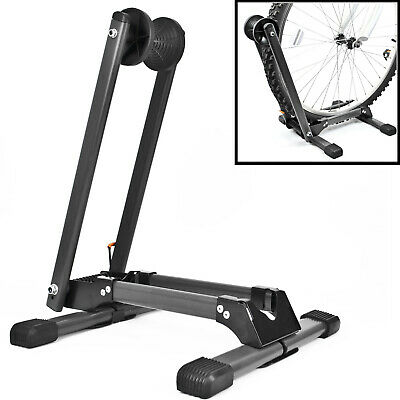 Folding BIKE STAND Portable Bicycle Floor Ground Parking Holder Storage Rack • 21.97£