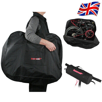 Portable Folding Bike Carry Bag Strong Heavy Duty Bicycle Cycle Travel Storage • 15.59£