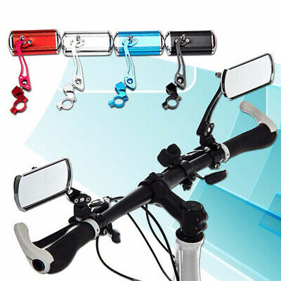 2Pcs Bicycle Bike Cycling Handlebar Rear View Rearview Mirror Rectangle Back • 9.79£