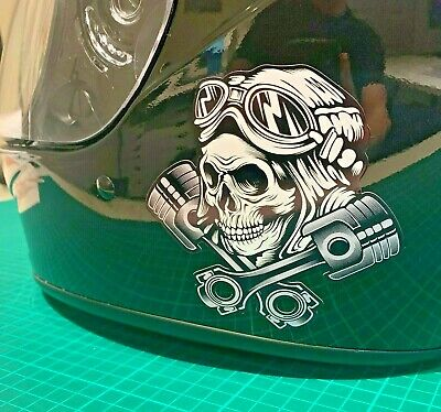 Skull Decal Sticker Motorbike Cycle Helmet Biker Motorbike Cool Motorcycle • 3.99£
