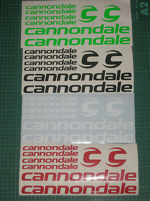 CANNONDALE Cycling Stickers Decals Set Various Colours Bike Frame Fork MTB Road • 7.95£