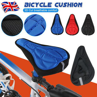 Bike Bicycle Saddle Seat Cover New Extra Soft Comfort Pad Cushion For Gym • 5.65£
