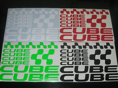 CUBE Cycling Stickers Decals Set Various Colours Bike Frame Fork MTB Road Helmet • 4.99£