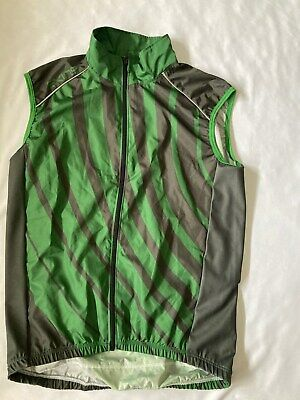 Skins Mens Cycling Windproof Gilet Green/Black With Bottle Pockets-BNWT • 22.99£