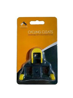 Shimano SPD SL Compatible Road Cycling Shoe Cleats & Bolts Yellow • 6.99£
