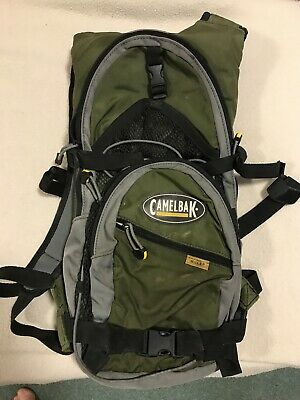 CamelBak Mule 3L Hydration Pack - Black/Grey & Dark Green In Very Good Condition • 14.50£