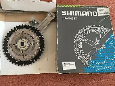 Retro Shimano Chainset Model LX - 42,32,22 170mm Cranks. • 12.50£
