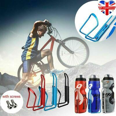 650ML Mountain Bike Bicycle Cycling Water Drink Bottle And Holder Cage Creative • 6.49£