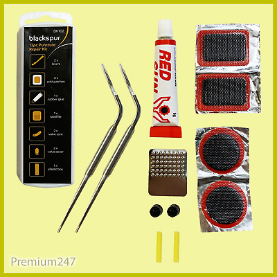 13 Piece Puncture Repair Kit Bike Tyre Tube Bicycle ToolKit Cycle Patches Glue • 1.99£