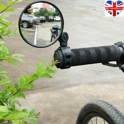 Side Rear View Handlebar Rearview Mirror Rotate Bike Bicycle Cycling 1/2pcs 360° • 5.20£