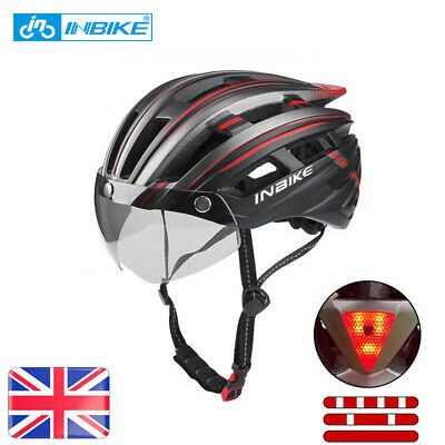 INBIKE Light Road Mountain Bike Bicycle Cycling MTB Safety Helmet With Goggles • 23.89£