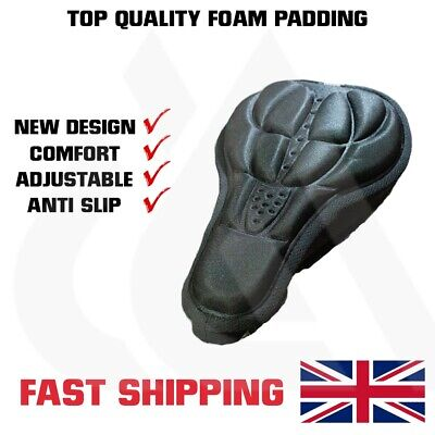 Bike Seat Cover For Cushion Comfort, Foam Bicycle Saddle, UK Stock • 4.79£