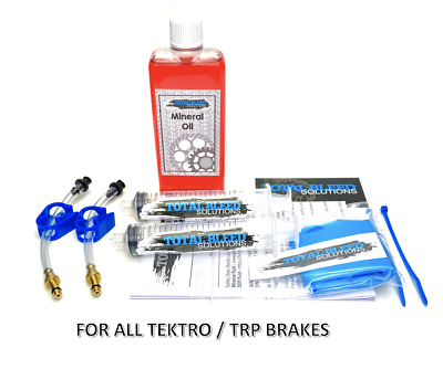 * TBS Brakes Bleed Kit For Tektro Auriga With Mineral Oil * • 12.99£