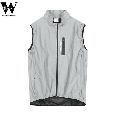 High Visibility Vest 360 Reflective Cycling Jacket Windproof Waterproof Gilet • 18.17£