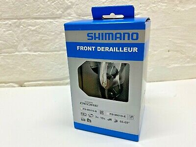 » Shimano Deore FD-M610-BL6 Front Derailleur 3x10-speed Dual Pull Top Swing • 17.99£