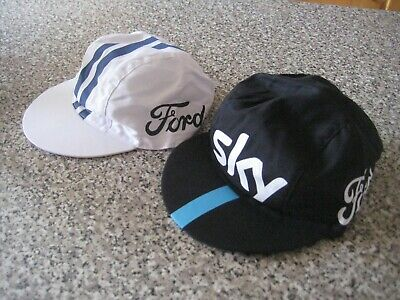 Pair Of Team Sky/ Ford Cycle Caps • 6£