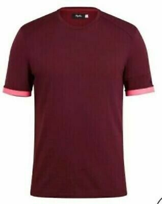 Rapha Merino T-Shirt Dark Red Wine BNWT Size M RRP £65 • 39.99£