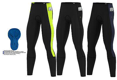 Mens Cycling Thermal Tights Pant Winter Cold Wear Padded Legging Cycling Trouser • 18.95£