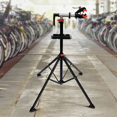 Adjustable Bike Repair Stand Bicycle Maintenance Mechanic Workstand Rack Black • 44.99£