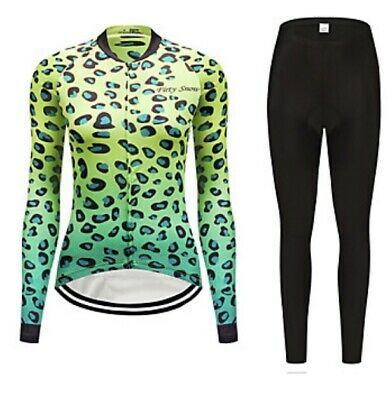 FirtySnow Women's Long Sleeve Cycling Jersey With Tights • 24£
