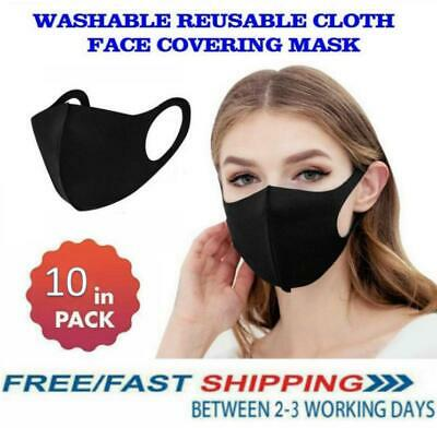 10Pcs Face Mask Protective Covering Mouth Masks Washable Reusable Adult Kids • 9.99£