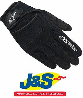 Alpinestars Spartan Motorcycle Gloves Motorbike Black Short Summer MX MTB BMX JS • 39.95£
