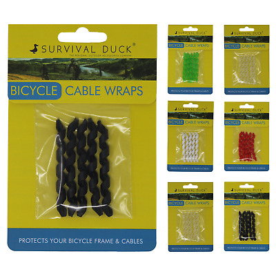 Bicycle Brake Cable Wrap Protector Frame Gear Rubber Cycling Accessory 1-4 Pack • 2.99£