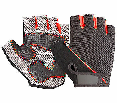 Cycling Motorbike Bicycle Gloves Sports Half Finger Strategic Palm  Fingerless • 5.49£