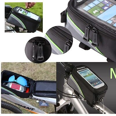 Roswheel Bike Bicycle Pouch Bag Mobile Phone Holder Iphone Samsung Waterproof • 9.99£