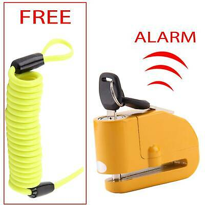 Heavy Duty Security Bike Motorcycle Motorbike Disc Lock + Reminder Cable 1.5M • 10.89£