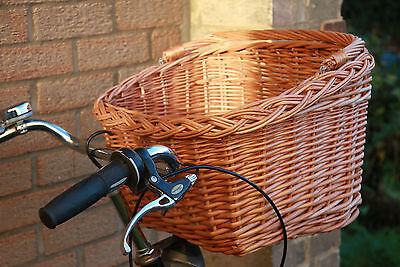 VINTAGE STYLEsmall/medium/large-Wicker Basket For Bike Bicycle With Carry Handle • 29.90£